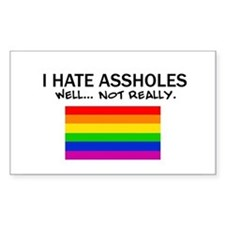 Funny Gay Rectangle Decal