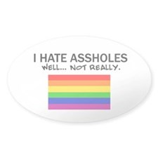 Funny Gay Oval Decal