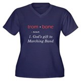 Trombone Women's Plus Size V-Neck Dark T-Shirt