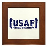 Proud USAF Grndpa - Tatterd Style Framed Tile