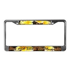 Smell Plumeria License Plate Frame