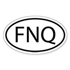 FNQ Oval Stickers