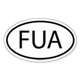 FUA Oval Decal