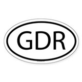 GDR Oval Decal