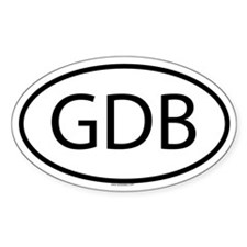 GDB Oval Decal