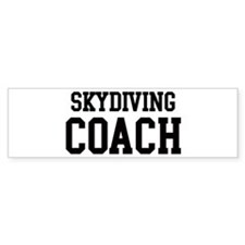 SKYDIVING Coach Bumper Car Sticker