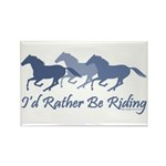 Rather Be Riding A Wild Horse Rectangle Magnet (10