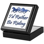Rather Be Riding A Wild Horse Keepsake Box