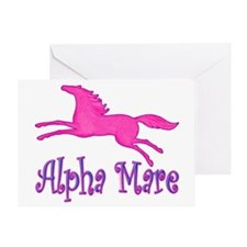 Alpha Mare. Pink Horse Greeting Card