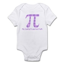 My Daddy Teaches Math (girl) Infant Bodysuit