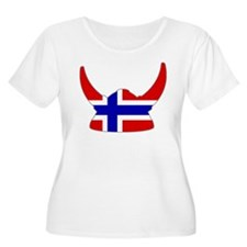 Norwegian Viking Helmet T-Shirt