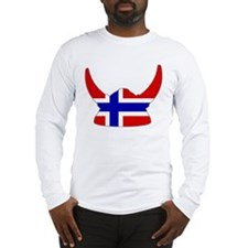 Norwegian Viking Helmet Long Sleeve T-Shirt