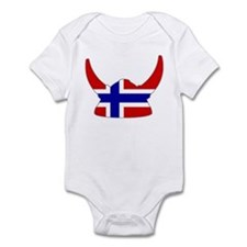 Norwegian Viking Helmet Infant Bodysuit