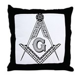 Masonic Symbol Throw Pillow