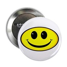 "Smiley Face Oval 2.25"" Button (10 pack)"