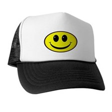 Smiley Face Oval Trucker Hat