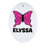 Elyssa - Butterfly Oval Ornament