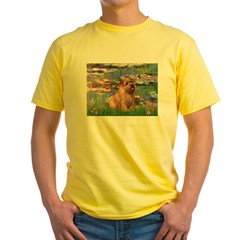 Lilies /Norfolk Terrier Yellow T-Shirt