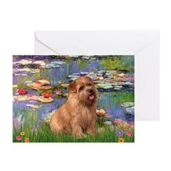 Lilies /Norfolk Terrier Greeting Cards (Pk of 10)
