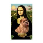 Mona / Norfolk Terrier Sticker (Rectangle)
