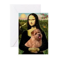 Mona / Norfolk Terrier Greeting Card