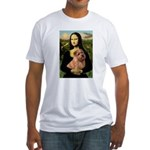 Mona / Norfolk Terrier Fitted T-Shirt