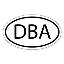 DBA Oval Decal