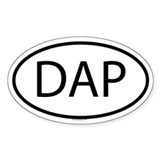 DAP Oval Decal