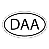 DAA Oval Decal