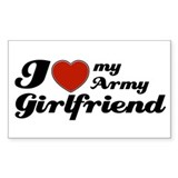I love my Army Girlfriend Rectangle Decal
