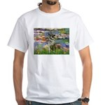 Lilies / Nor Elkhound White T-Shirt
