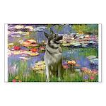Lilies / Nor Elkhound Sticker (Rectangle)
