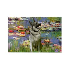 Lilies / Nor Elkhound Rectangle Magnet