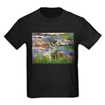 Lilies / Nor Elkhound Kids Dark T-Shirt