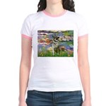 Lilies / Nor Elkhound Jr. Ringer T-Shirt