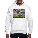 Lilies / Nor Elkhound Hooded Sweatshirt