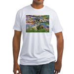Lilies / Nor Elkhound Fitted T-Shirt