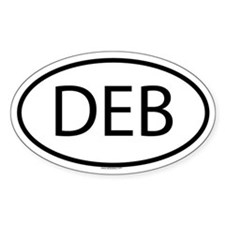 DEB Oval Bumper Stickers