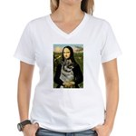 Mona / Nor Elkhound Women's V-Neck T-Shirt