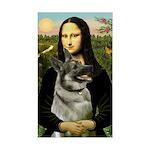 Mona / Nor Elkhound Sticker (Rectangle)