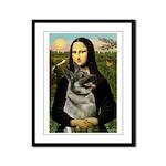 Mona / Nor Elkhound Framed Panel Print