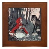 Little Red Riding Hood Framed Tile