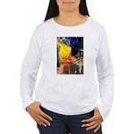 Cafe / Nor Elkhound Women's Long Sleeve T-Shirt