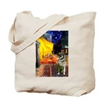 Cafe / Nor Elkhound Tote Bag