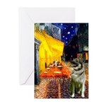 Cafe / Nor Elkhound Greeting Cards (Pk of 20)