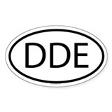 DDE Oval Decal