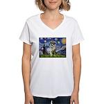 Starry / Nor Elkhound Women's V-Neck T-Shirt