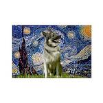 Starry / Nor Elkhound Rectangle Magnet