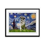 Starry / Nor Elkhound Framed Panel Print