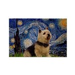 Starry /Norwich Terrier Rectangle Magnet (10 pack)